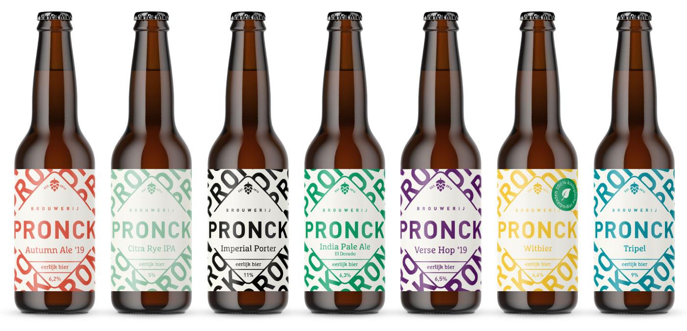 Grafisch ontwerp leiden, grafisch ontwerp, kordaat, studio kordaat, leiden, grafisch ontwerper, grafische vormgeving, graphic design, vormgeving, brouwerij Pronck, Pronck, bier, visuele identiteit, visual identity, beer labels, beer design, beer graphic design, brewery design, branding