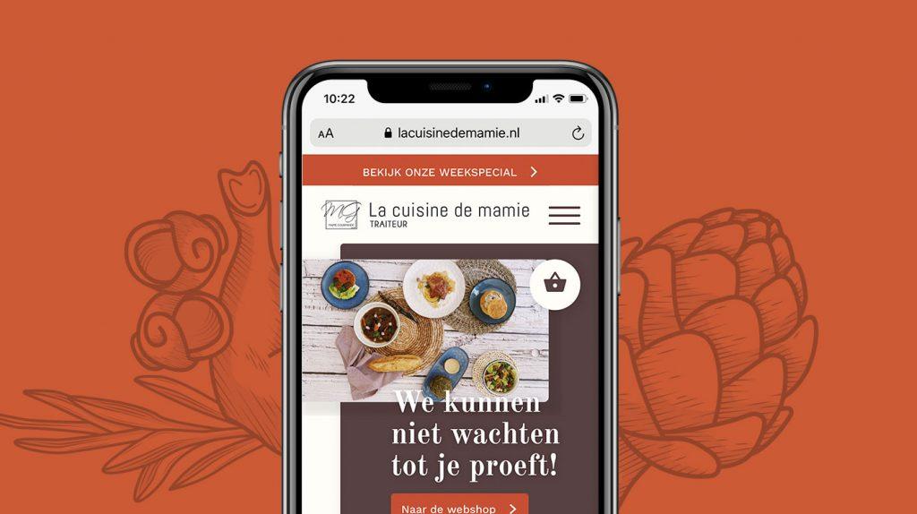 webshop, webshop ontwerp, grafisch ontwerp, la cuisine de mamie, mamie gourmande