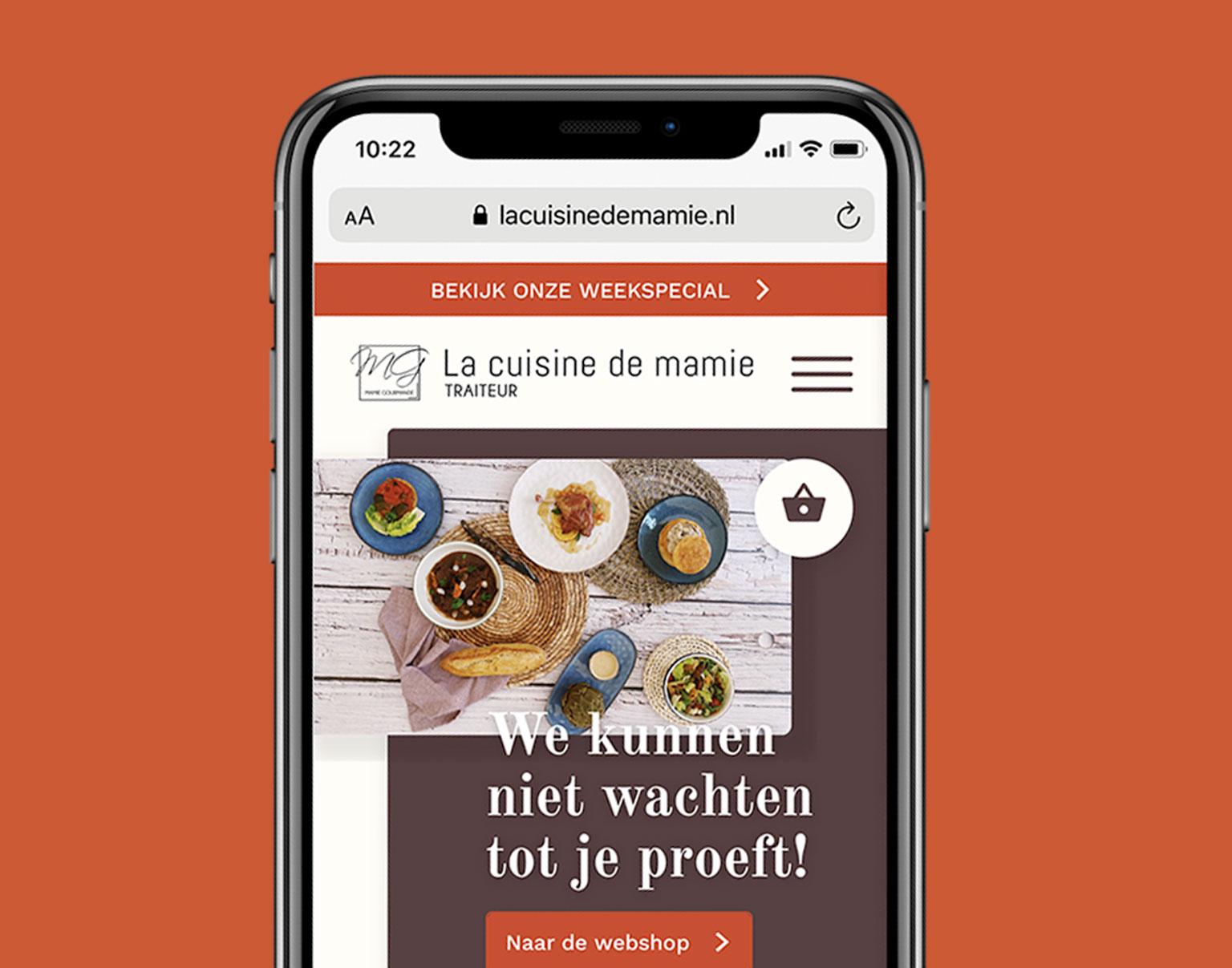 webshop, webshop ontwerp, grafisch ontwerp, la cuisine de mamie, mamie gourmande, webshop leiden